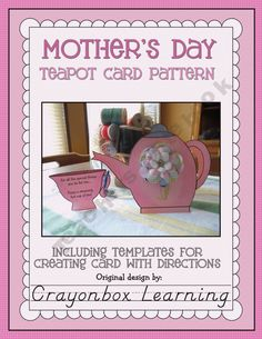 Free Mother's Day Teapot Card Pattern