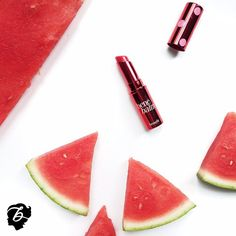 Our gorgeous hydrating tinted lip balms are as juicy and hydrating as watermelons! xx