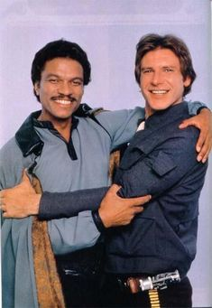 "*LANDO CALRISSIAN (played by: Billy Dee Williams) & HAN SOLO (played by: Harrison Ford) ~ STAR WARS: ""The Empire Strikes Back"", 1980"