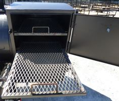 """Smoker Trailer Wood 59"""" x 29"""" Charcoal Pit Wood Cage BBQ Cooker - SLE Equipment Bbq Smoker Trailer, Bbq Pit Smoker, Keep Food Warm, Smokehouse, Charcoal Grill, Cage, Cooker, Grilling, Wood"""