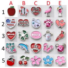 *Floating Charms for Glass Living Memory Lockets Glass lockets Memory charm DIY ***PLEASE NOTE: PLEASE LOOK AT THE FIRST PICTURES TO SELECT.  ***TO ADD LOCKETS BRACELET, PLEASE ADD THIS LISTING TO YOUR CART: https://www.etsy.com/listing/214767179/locket-bracelet-rhinestone-floating?ref=shop_home_active_1  <> Material: Alloy,Plating  <>Size: Mix Size  <>Color: Mix Color as pictures shows  <> Shipping:  Country -----------------------Transportation--------------------Delivery Time  United…