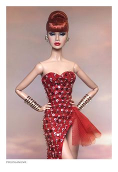 Fashion Royalty Dolls, Fashion Dolls, Fashion Show, Barbie Gowns, Doll Clothes Barbie, Barbie Theme, Red Dolls, Diva Dolls, Glamour Dolls