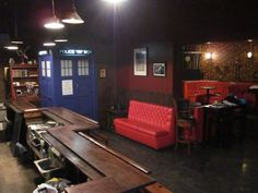 If you should ever find yourself in need of a drink while in Brooklyn, check out a steampunk bar called The Way Station. We are fairly confident that it's one of the few places on earth you can go to the bathroom/be violently ill inside of a TARDIS (in this case, it stands for Time and Relative Drinking In Space). The bar also includes Doctor Who themed cocktails and weekly nerdy movie and television show screenings.The Way StationviaThat's Nerdalicious