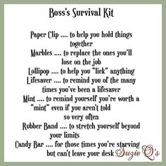 Boss's Survival Kit includes Topper and Card by SuzieQsCrafts