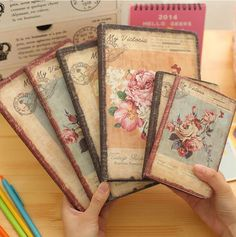 PU Leather Floral Schedule Book Diary Weekly Planner Notebook Office Paper Suppl | Books, Accessories, Blank Diaries & Journals | eBay!
