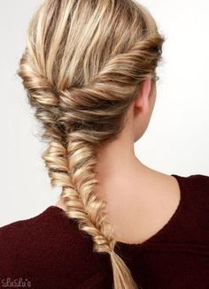 Topsy Fishtail Braid - 101 Braid Ideas That Will Save Your Bad Hair Day (Photos)