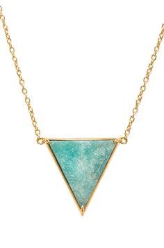 Amazonite Pyramid Necklace