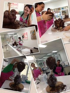 Balloon Cake Day two - willy Wonkers Chocolate Factory, lots of mess and jolly good fun!