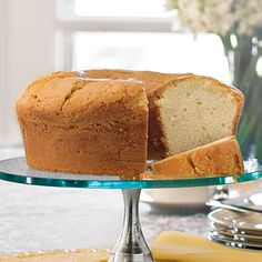 Million Dollar Pound Cake | Just seven ingredients—and all of them common pantry staples—are all you need for this classic pound cake. Top with ice cream or seasonal fruits for a tasty combination.