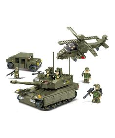 Sluban Military Series Army Heavy Tank Helicopters Hummer Air Defense Building Blocks Bricks Sets toys Compatible With Lego Model Building Kits, Building Toys, Lego Ville, Interlocking Bricks, Lego Army, Brick Block, Construction, Brick Building, Fine Motor Skills
