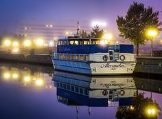Foggy evening in Oulu. Canon Photography, Alexandria, Mysterious, Reflection, Boat, Ship, World, Nature, Travel