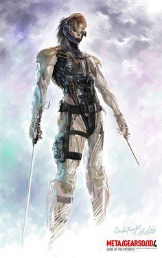 Raiden by, Edwin David Patrick Brown, Raiden Metal Gear, Metal Gear Rising, Gear 4, Cyberpunk Character, Metal Gear Solid, Video Game Art, Cool Art, Concept Art