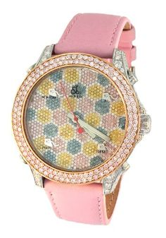 Jacob-Co-Pink-Band-18K-Rose-Gold-5-Time-Zone-650Ct-Diamond-Watch-JC-M61SS-0