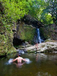 Hawaii - Upper Makamaka'ole Falls, Maui