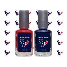 Houston Texans 2-Pack Nail Polish and Decal Set