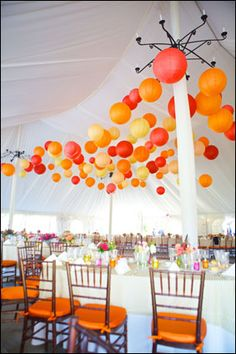 Talk about a fun outdoor wedding tent! Wedding Tent Decorations, Tent Wedding, Outdoor Wedding Venues, Wedding Events, Our Wedding, Dream Wedding, Weddings, Orange Party, Orange Wedding