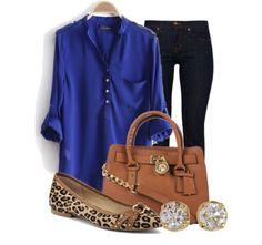 Top, Jeans, Flats