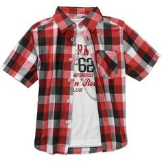 Faded Glory Boys' Short Sleeve Woven Shirt with Graphic Tee - Walmart.com