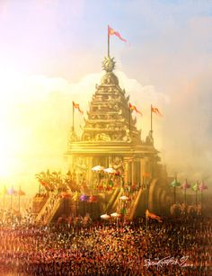 'Jagannatha has been worshiped by Hindus since aeons. This temple has been invaded/destroyed 18 times. We rebuilt it every single time. Today, all the invaders are long dead. Atlantis, Lord Rama Images, Indian Temple Architecture, Rath Yatra, Temple India, Banner Background Images, Picsart Background, Hanuman Wallpaper, Lord Vishnu Wallpapers