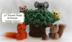 Here's a round up of this entire series including the tree! There are 8 different patterns, all free. Most of them also have video tutor...