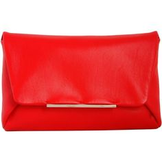 Lanvin Clutches found on Polyvore featuring bags, handbags, clutches, purses, rosso, chain strap purse, red hand bags, real leather handbags, man bag and hand bags
