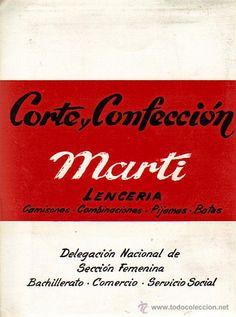 LOTE 10 EJ.CORTE Y CONFECCION MARTI-LENCERIA-DEL.NAL.SECCION FEMENINA AÑOS 70 (NUEVOS A ESTRENAR) Sewing Courses, Marti, Sewing Patterns, Feminine, Libros