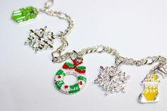 Świąteczna bransoletka z zawieszkami - ELMAR0 - Bransoletki