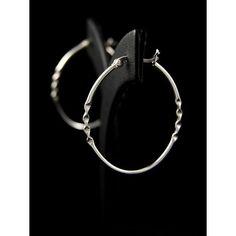 Серьги из серебра 925 пробы. Дизайн: овальные кольца. Размеры: ширина 2 x 30 мм, высота 36 мм.