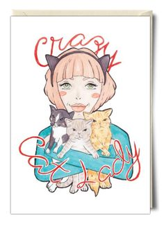 Crazy Cat Lady - Card by A Rose Cast
