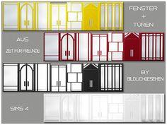 """Moin Ihr Lieben! Für Euch habe ich heute Fenster und Türen aus dem EP """"Zeit für Freunde"""" in 5 Farben. Diese sind für die mittlere Wandhöhe zu verwenden. Viel Spaß damit! Solltet Ihr wei…"""