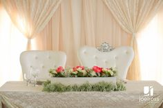 Little Flower Shop's Bride and Groom Chairs
