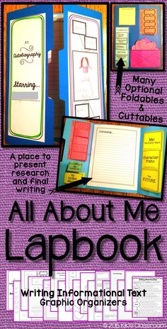 All About Me • Autobiography • Informational Writing • Third Grade • Lapbook