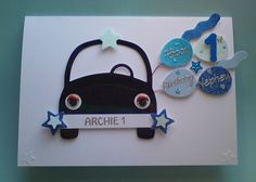 Personalised Boy 1st Birthday Card - any name/age/relation - £4.50  #CRAFTfest