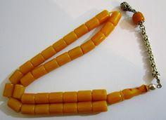 Vintage Amber Bakelite Catalin Rosary Prayer Worry Beads Tasbih 10 x 12 mm 45gr   eBay