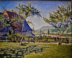 """The Pine Tree at St. Tropez"" by Paul Signac"