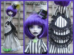 monster high custom Beetlejuices daughter -2 by Rach-Hells-Dollhaus