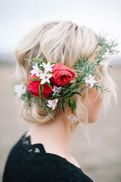 #flower #crown #hairstyle #crown #fairy #natural #romantic #feminine