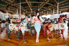 I love this photo of @Hilary Rushford / Dean Street Society on a carousel. :)