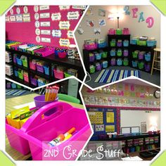 bright fun colors. Great classroom tour. I'm loving the black bookshelves