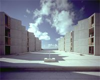 The Salk Institute for Biological Studies: It's not enough to create the Human Genome Project, work toward cures for humanity's worst diseases, and generally be amazing, but they have to have gorgeous architecture too!