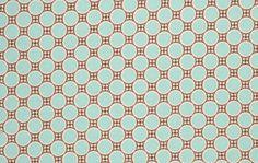 1 yard Amy Butler - Gypsy Caravan Deco Dots -Foam  100% cotton PWAB087 Light teal blue circles,small brown checkerboard pattern in between