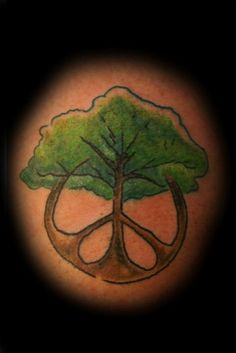 tree peace tattoo