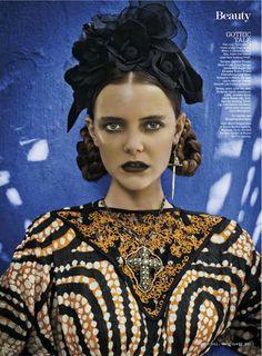 Frida Kahlo | Imogen Morris Clarke | Marie Claire October 2012 | 'Dia LosMuertos' - 15 GlamTribale Nature Inspired Jewelry