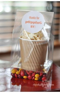 Popcorn and sweets wedding favor / favour. #Pack #Thank you Note #Thank You for Popping By. @Jason Jones Style Weddings