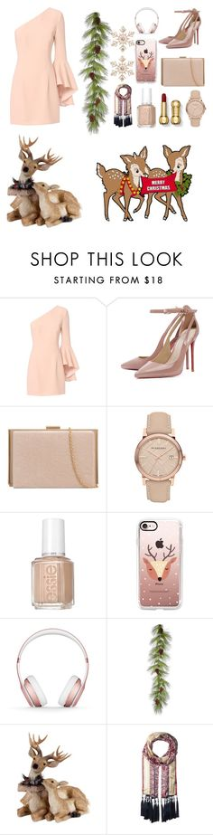 """""""Christmas Outfit"""" by lenakiklu on Polyvore featuring Exclusive for Intermix, Burberry, Essie, Casetify, Beats by Dr. Dre, Vince Camuto, John Lewis, Christmas, december and MerryChristmas"""