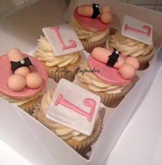 Some cheeky hen party cupcakes from Kelly's Cupcakes contact  sales@kellyscupcakes.org for any questions please