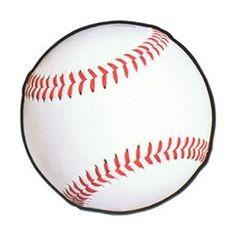 Decoartie Honkbal cutout -  Een grote decoratie van een honkbal. Afmeting: 33cm. Leuk voor een sport evenement, kinderfeest of gewoon als decoratie in een kinder of tiener slaapkamer.