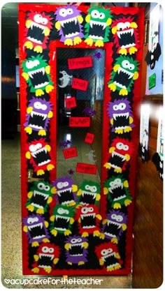A Cupcake for the Teacher: My Monster-ific Door and a Trick or Treat Sale!