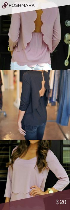 PRE-ORDER BEAUTIFUL LAYERED SCALLOP TOP!! COMING SOON! Please LIKE to be notified when they arrive and feel free to pre-order by listing the size and color you need in the comments section. 377623826 *100% Cotton *Crew Neck *Price Firm *No Trades THANKS FOR SHOPPING IN KOOKY'S KLOSET! Kooky's Kloset Tops Blouses