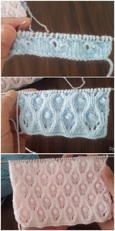 Baby Knitting Patterns, Lace Knitting Stitches, Cable Knitting, Crochet Stitches Patterns, Knitting Designs, Stitch Patterns, Crochet For Kids, Knit Crochet, Zeina